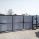 Монтаж откатных ворот с автоматикой в Астрахани