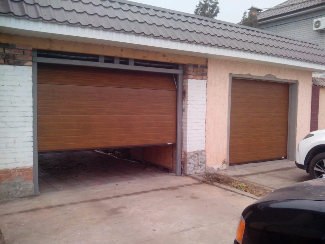 Секционные ворота Zaiger с автоматикой Nord motors